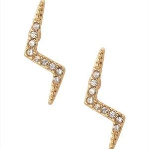Stella & Dot Lightning Bolt Earrings